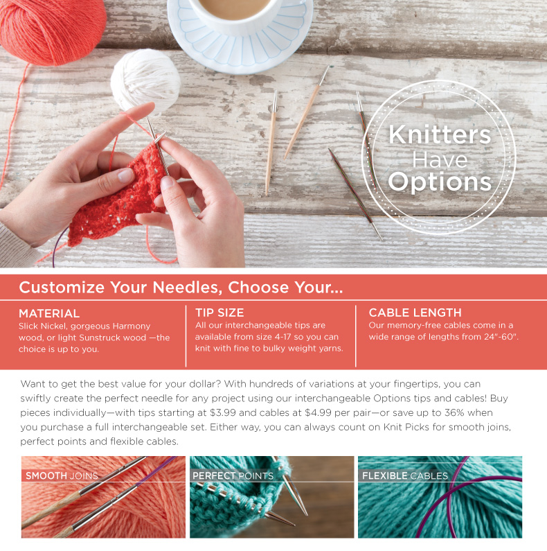 Knitters Have Options