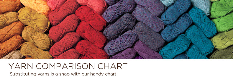 Knitting Yarn Comparison Chart