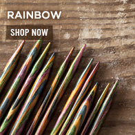Rainbow Wood Knitting Needles