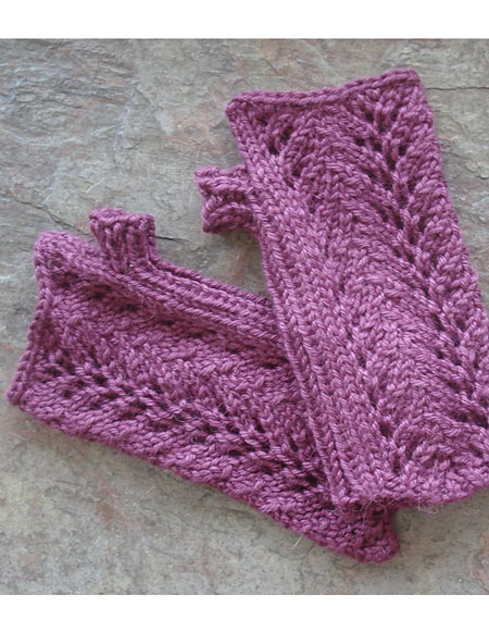 One Skein Knitting Patterns : One-Skein Fingerless Lace Gloves Pattern - Knitting ...