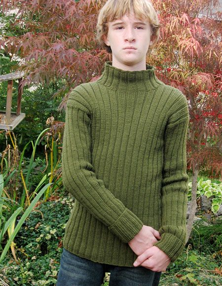 Free Knitting Patterns For Teenage Sweaters : Growing Tween to Teen Outdoors Sweater - Knitting Patterns and Crochet Patter...