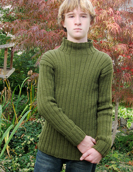 Growing Tween to Teen Outdoors Sweater - Knitting Patterns and Crochet Patter...