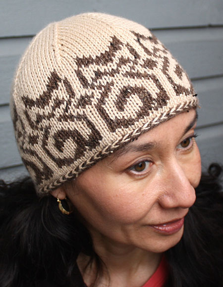 Knitting Patterns For Cat Hats : Temple Cats Hat Pattern - Knitting Patterns and Crochet Patterns from KnitPic...