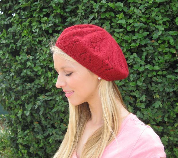Knitting Pattern Hat Beret : Ziggy Beret Hat Pattern - Knitting Patterns and Crochet ...