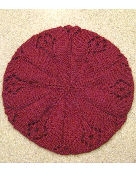 Knit Beret Patterns : Ziggy Beret Hat Pattern - Knitting Patterns and Crochet Patterns from KnitPic...