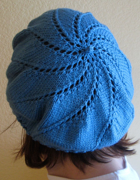 Whirlpool Beret Pattern - Knitting Patterns and Crochet Patterns from KnitPic...