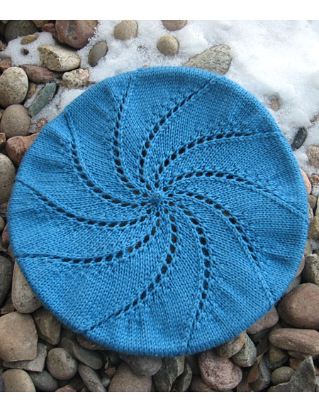 Free Knitted Flowers Patterns : Whirlpool Beret Pattern - Knitting Patterns and Crochet Patterns from KnitPic...