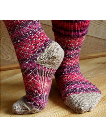 TicTac Toes Socks Pattern - Knitting Patterns and Crochet Patterns from KnitP...