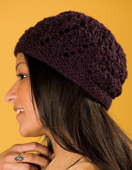 Free Crochet Pattern For Lace Beanie : Raewyn Lace Beanie - Knitting Patterns and Crochet ...