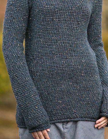 Crochet Pattern Jumper : Comfy Boyfriend Crochet Sweater Pattern - Knitting ...