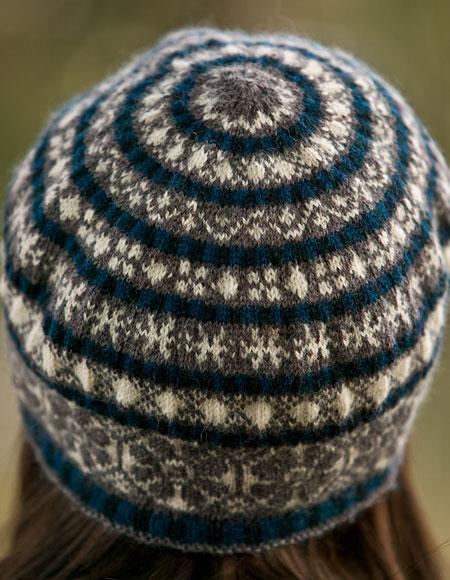 Tam Hat Knitting Pattern Free : Fairisle Snowflake Tam pattern - Knitting Patterns and ...
