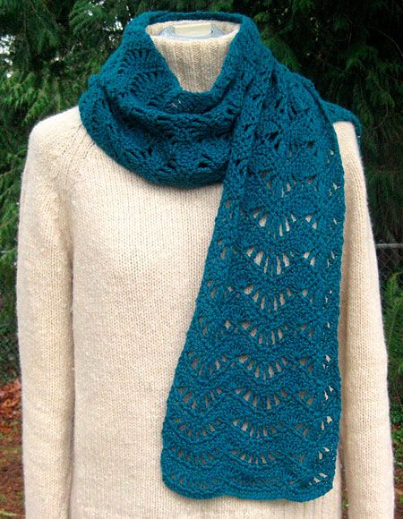 Crochet Patterns Lace Weight Yarn : Lace Scarf Crochet Pattern - Knitting Patterns and Crochet Patterns ...