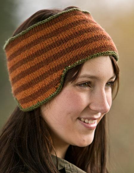 Klondike and Snow Reversible Fair Isle Headband Pattern - Knitting ...