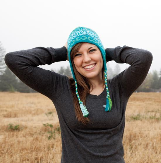 Knitting Pattern Ladies Hat With Ear Flaps : Swirly Gig Earflap Hat Pattern - Knitting Patterns and ...