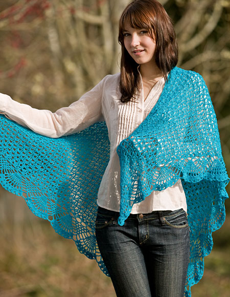 Crochet Lace Weight Shawl Pattern : Dreams Lace Crochet Shawl - Knitting Patterns and Crochet ...
