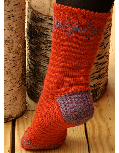 sunset folk socks knitting patterns and crochet patterns