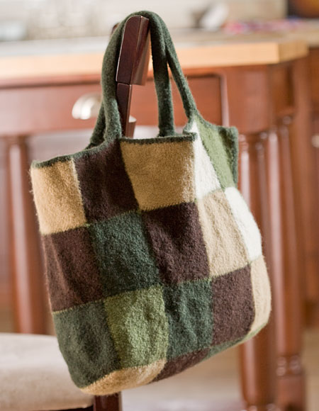 Patchwork Knitting Bag Pattern : Patchwork Tote - Knitting Patterns and Crochet Patterns from KnitPicks.com