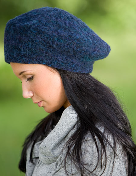 Lucky 7 Felted Beret - Knitting Patterns and Crochet Patterns from KnitPicks.com
