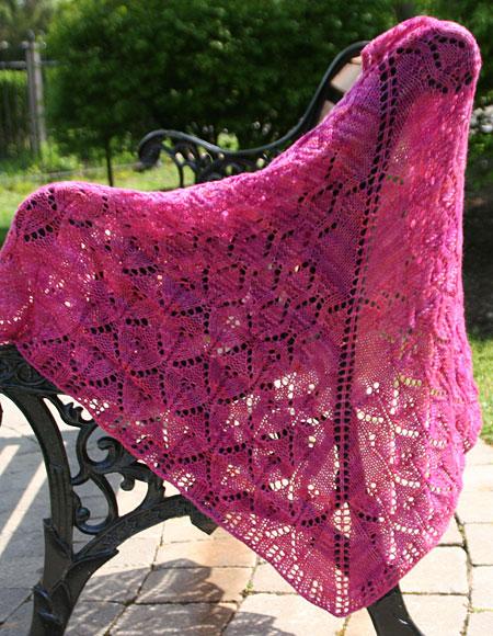 Summer Shawl Knitting Pattern : Summer Stroll Shawl - Knitting Patterns and Crochet Patterns from KnitPicks.com