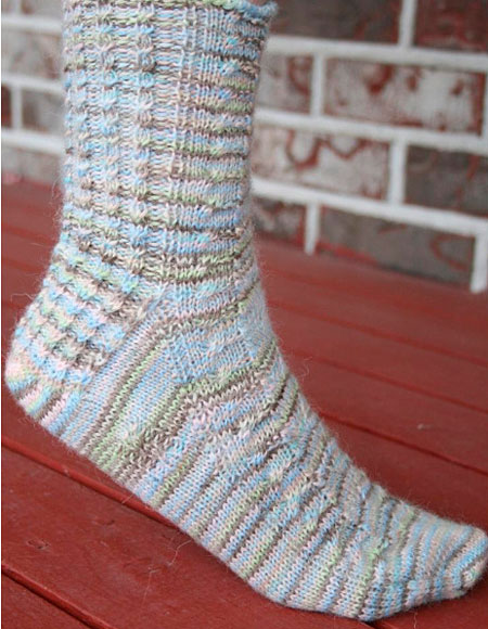 Toe Up Knitted Sock Pattern Free : Life s A Beach Toe Up Sock - Knitting Patterns and Crochet Patterns from...