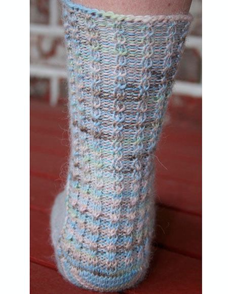 Life s A Beach Toe Up Sock - Knitting Patterns and Crochet Patterns from...