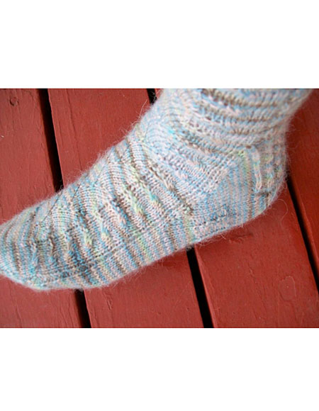Crochet Socks Patterns Toe Up : Life s A Beach Toe Up Sock - Knitting Patterns and ...