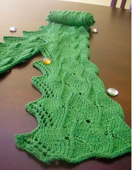 Morning Dew Scarf - Knitting Patterns and Crochet Patterns ...