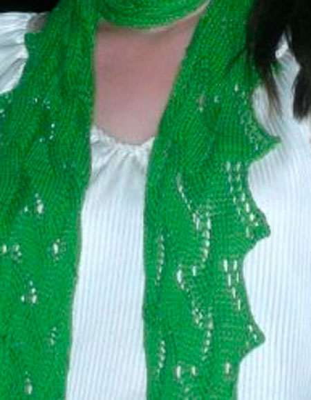 Dew Drop Wrap Free Crochet Pattern : Morning Dew Scarf - Knitting Patterns and Crochet Patterns ...