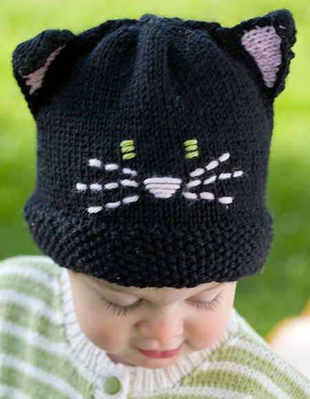Meow cat hat knitting patterns and crochet patterns from - Free cat hat knitting pattern ...