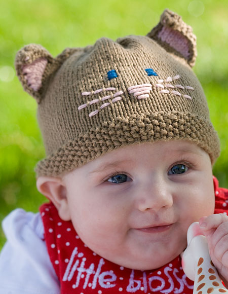 Meow! Cat Hat - Knitting Patterns and Crochet Patterns from KnitPicks.com