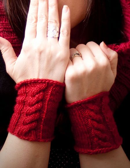 Hooded Neck Warmer Knitting Pattern : Through the Woods Hooded Neck Warmer & Cuffs - Knitting Patterns and Croc...