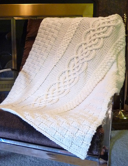 Free Crochet Pattern Wedding Afghan : Cabled Wedding Blanket - Knitting Patterns and Crochet ...