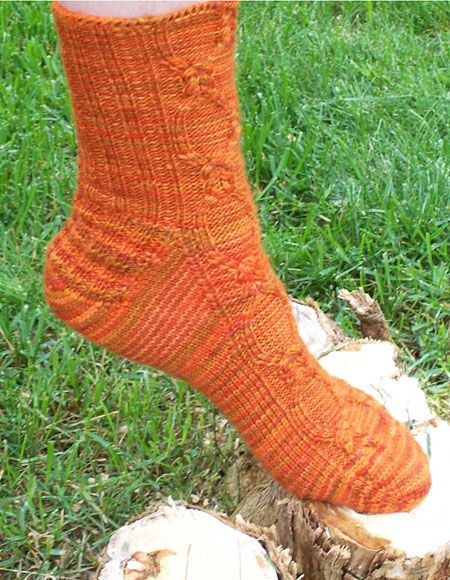Toe Up Knitted Sock Pattern Free : Balmoral Toe Up Socks - Knitting Patterns and Crochet Patterns from KnitPicks...