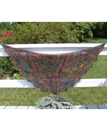 Twin Leaf Shoulder Shawl - Knitting Patterns and Crochet ...