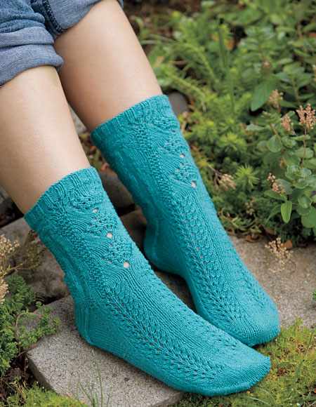 Seashell Knitting Pattern : Sea Shell Socks - Knitting Patterns and Crochet Patterns from KnitPicks.com
