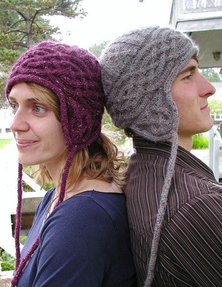 Free Crochet Pattern Aran Hat : Aran Earflap Hat - Knitting Patterns and Crochet Patterns ...