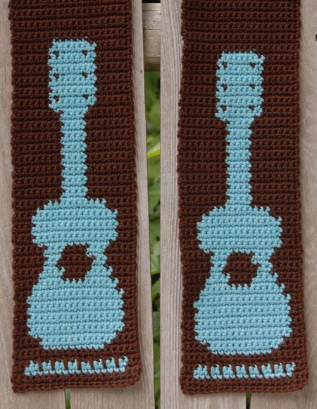Free Pattern Crochet Guitar : Rockin Guitar Crochet Scarf - Knitting Patterns and ...