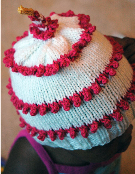 First Year Birthday Cake Hat - Knitting Patterns and ...