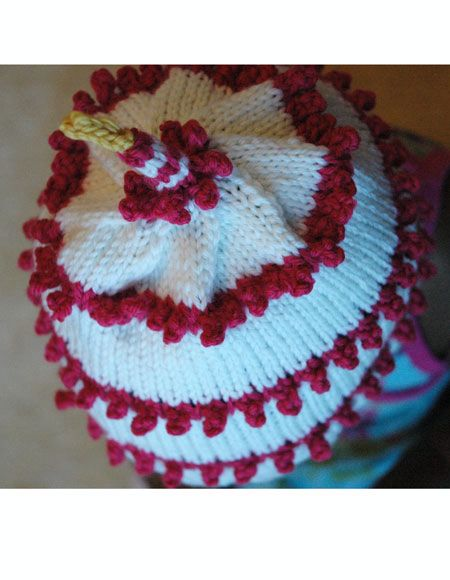 Knitted Cake Patterns : First Year Birthday Cake Hat - Knitting Patterns and Crochet Patterns from Kn...