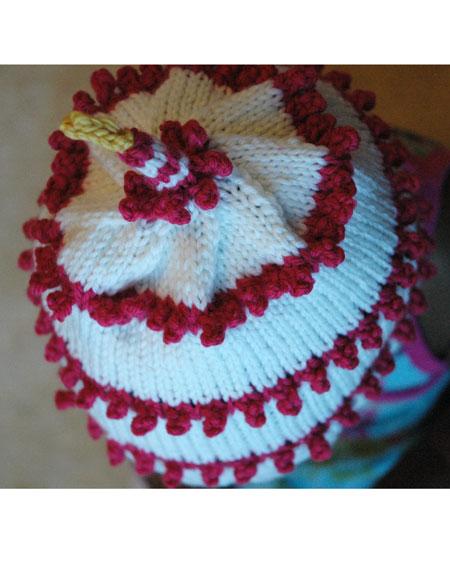 Cake Knitting Pattern Free Download : First Year Birthday Cake Hat - Knitting Patterns and ...