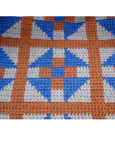Diamond Afghan Knitting Pattern : Double-Crossed Diamonds Crochet Afghan - Knitting Patterns and Crochet Patter...