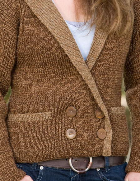 Tweed Jacket - Knitting Patterns and Crochet Patterns from KnitPicks.com