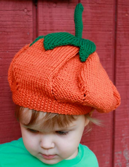 Pumpkin Hat - Knitting Patterns and Crochet Patterns from KnitPicks.com