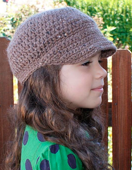 Free Crochet Pattern Toddler Newsboy Cap : All Ages Newsboy Crochet Cap - Knitting Patterns and ...