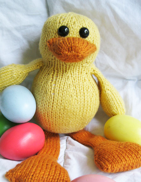 Knitting Pattern Duck Toy : Dudley The Duck Toy - Knitting Patterns and Crochet Patterns from KnitPicks.com