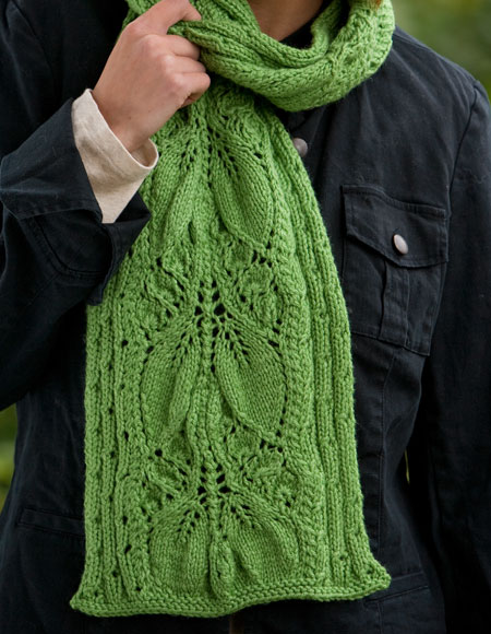Falling Leaves Scarf - Knitting Patterns and Crochet Patterns from KnitPicks.com