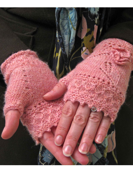 Miss Myrtle Fingerless Mitts - Knitting Patterns and Crochet Patterns from Kn...