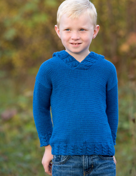 Knitting Pattern Hoodie Child : Blue Jean Child Hoodie - Knitting Patterns and Crochet ...