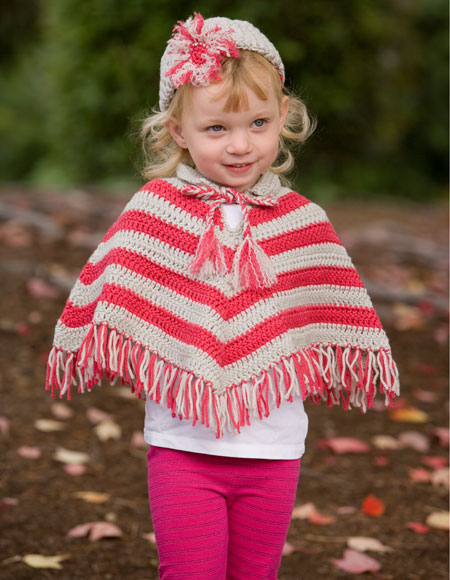 Knitting Pattern For Childs Poncho : Child Crochet Poncho & Hat Set - Knitting Patterns and Crochet Patterns f...