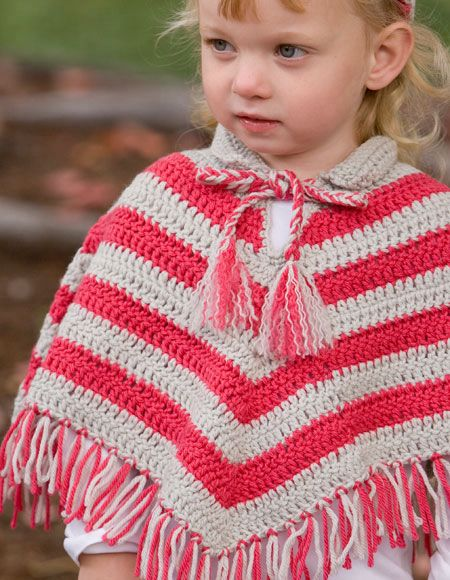 Child Crochet Poncho & Hat Set - Knitting Patterns and Crochet Patterns f...